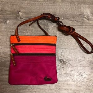 Dooney & Bourke 3 zipper North South crossbody